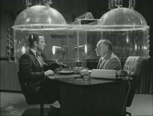 The cone of silence was frequently used by Agent 8 and the Chief in sharing secrets.